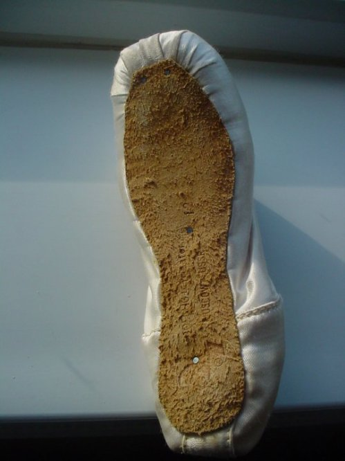 Bolshoi pointe shoe sole