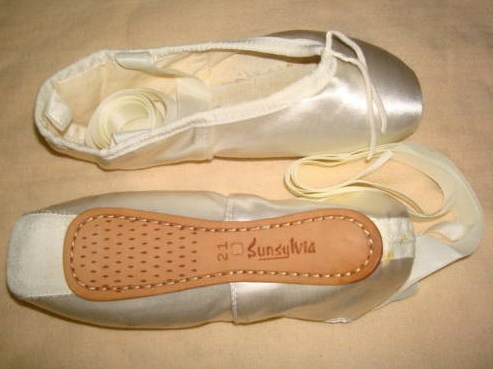 White Pointe Shoes-Sylvia Brand