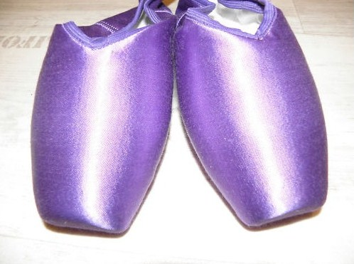 Purple Grishko pointe shoes