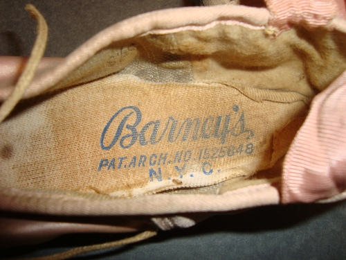 Vintage Barney's Pointe Shoe-Insole Liner