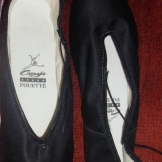 Black Satin Fouette by Capezio