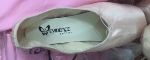 Evidence pointe shoes
