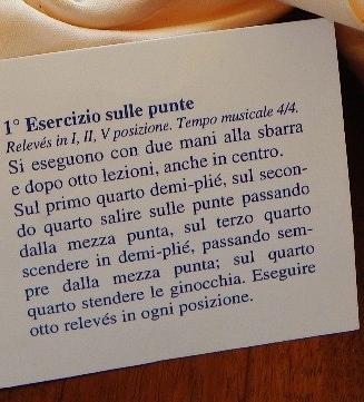 Edoardo Colacrai pointe shoe tag