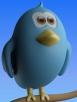 Twitter bird on branch